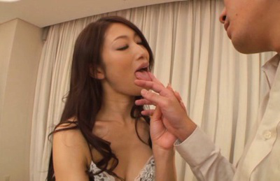 Reiko kobayakawa. Reiko Kobayakawa Asian takes lingerie off to expose her voluminous cans