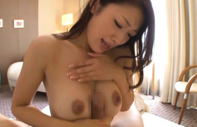 Reiko kobayakawa. Reiko Kobayakawa Asian sucks man nipples and rubs cock with cans