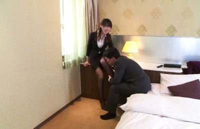 Meisa chibana. Meisa Chibana Asian has horny legs kissed over stockings by dude