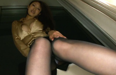 Reiko kobayakawa. Reiko Kobayakawa has firm cans taken out of blouse and fondled